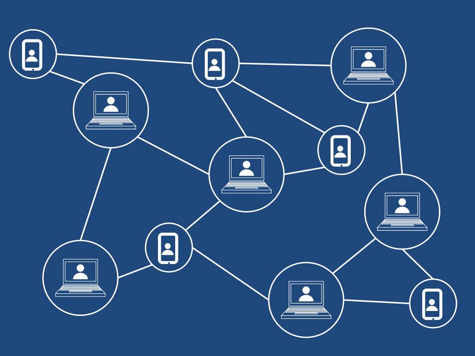 Una rappresentazione grafica di rete decentralizzata